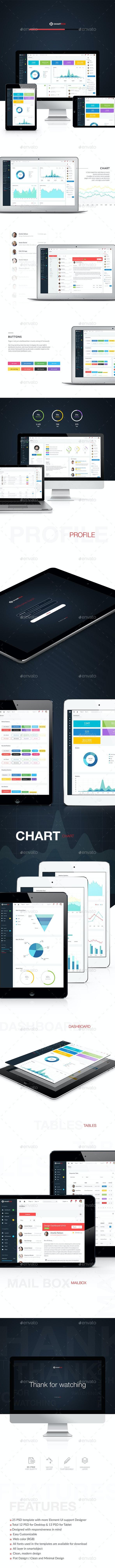 SmartBox – Admin Dashboard UI - User Interfaces Web Elements
