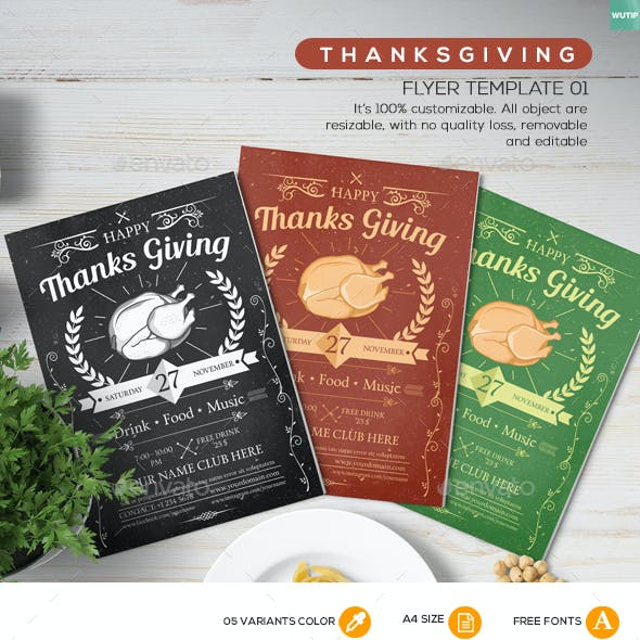 Thanksgiving Flyer Template 01