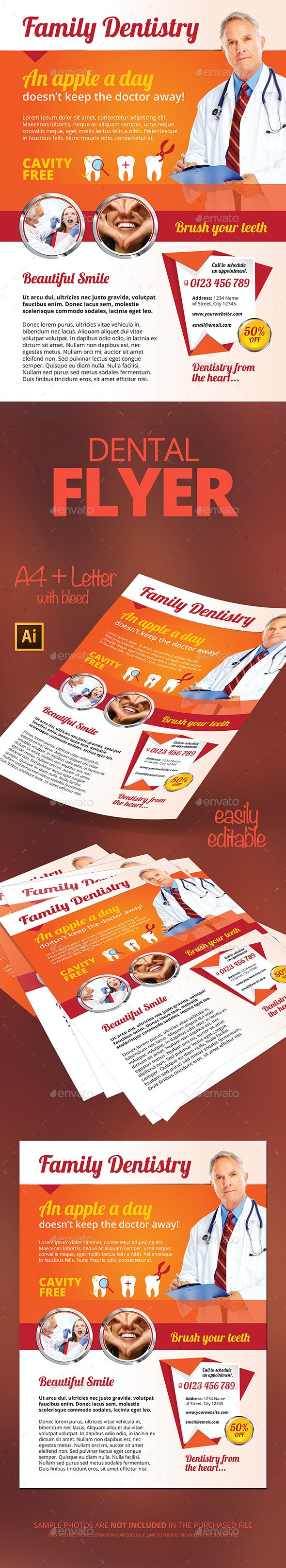 Dental Flyer - Flyers Print Templates