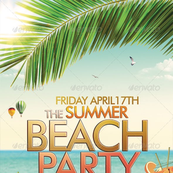 Beach or Summer Party Flyer