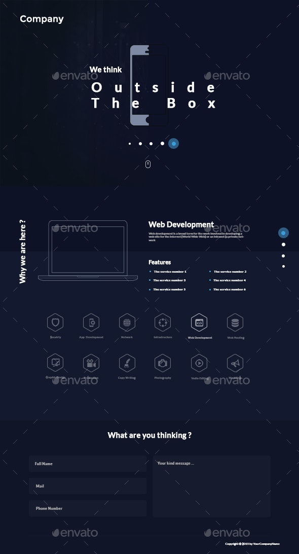 IT Onepage UI - User Interfaces Web Elements