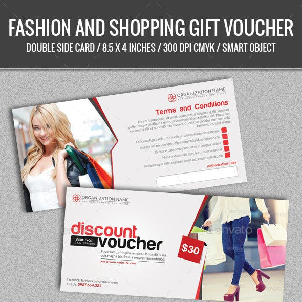 Fashion and Shopping Gift Voucher