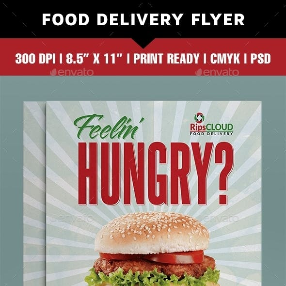 Food delivery flyer
