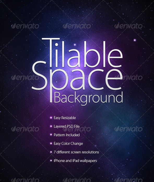 Tilable Space Background + Wallpapers - Backgrounds Graphics