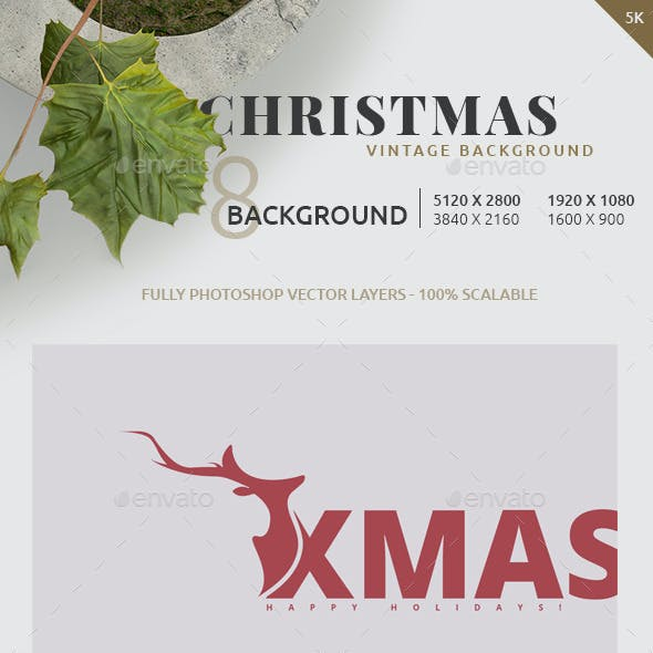 Christmas 5k Vintage Backgrounds