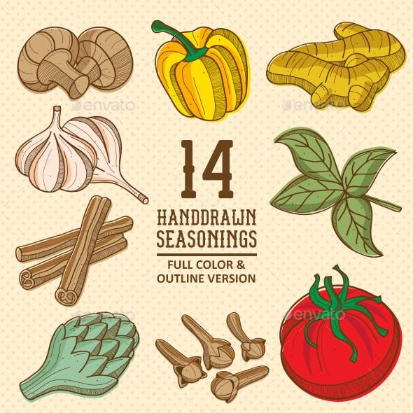 Handdrawn Seasonings