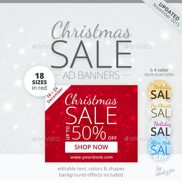 Christmas Sale Web Ad Banners