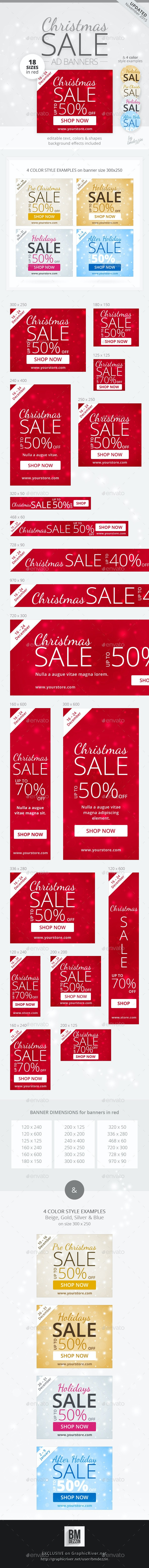 Christmas Sale Web Ad Banners - Banners & Ads Web Elements