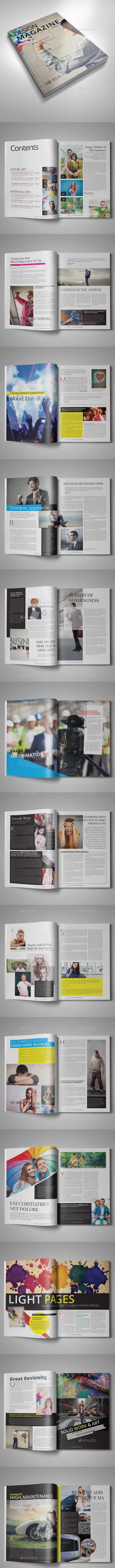Design Magazine Template | 34 pages - Magazines Print Templates