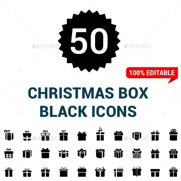 Christmas Gifts Icons From Graphicriver