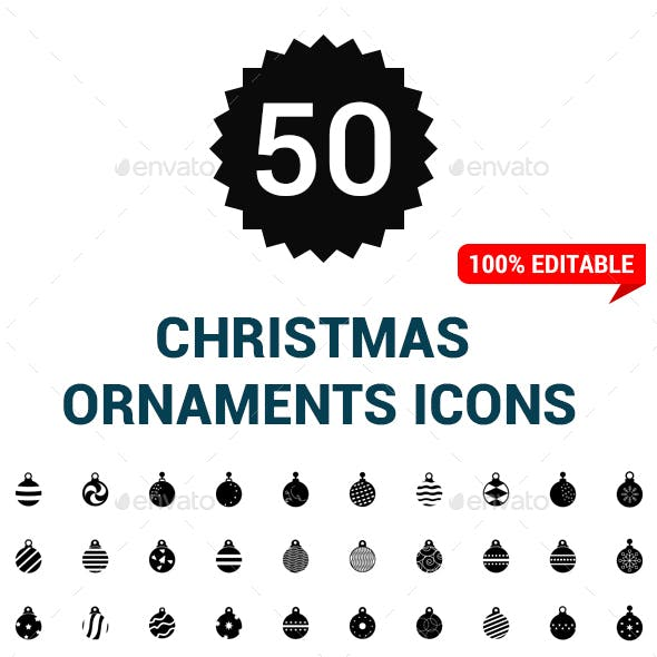 50 christmas ball Icons