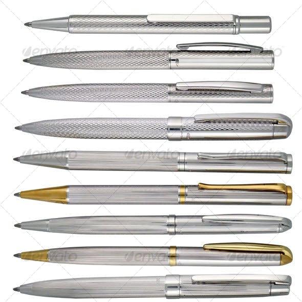 Silver Writing Pens