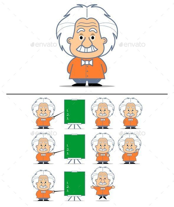 Albert Einstein Character - People Characters