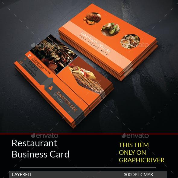 Restaurant Business Card Template.176