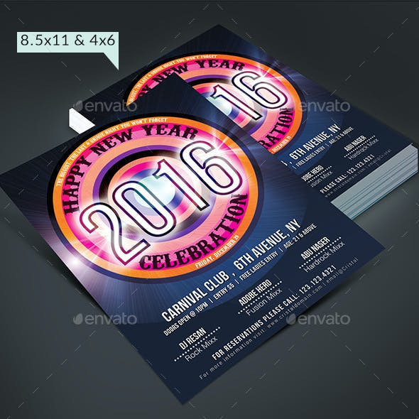New Year Party Flyer Pack 2016