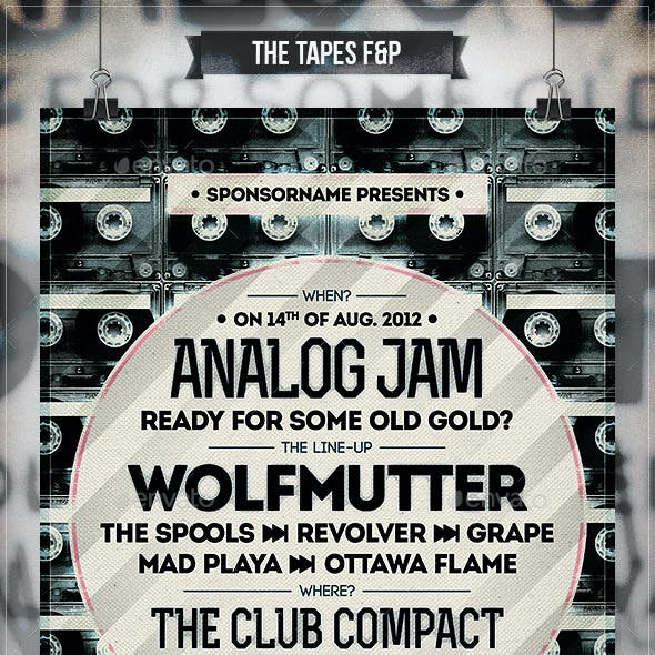 The Tapes - Flyer & Poster