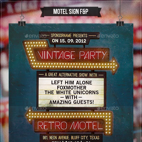 Motel Sign - Flyer & Poster