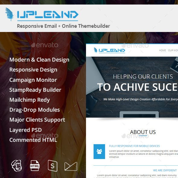 Upleand Email Template PSD