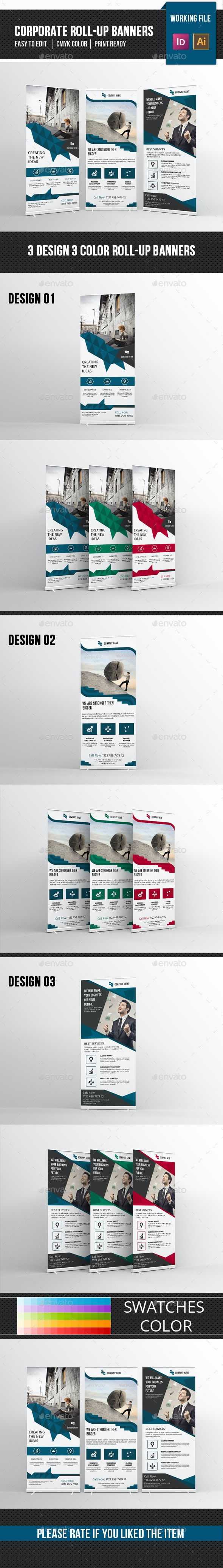 Corporate Roll-up Template-V09 - Signage Print Templates