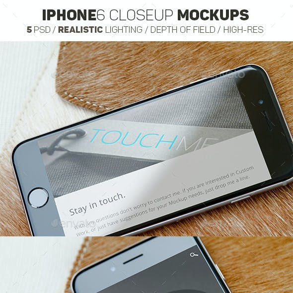 iPhone 6 Mockups Leather