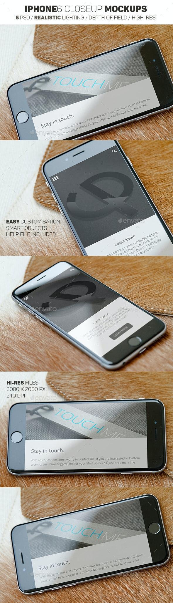 iPhone 6 Mockups Leather - Mobile Displays