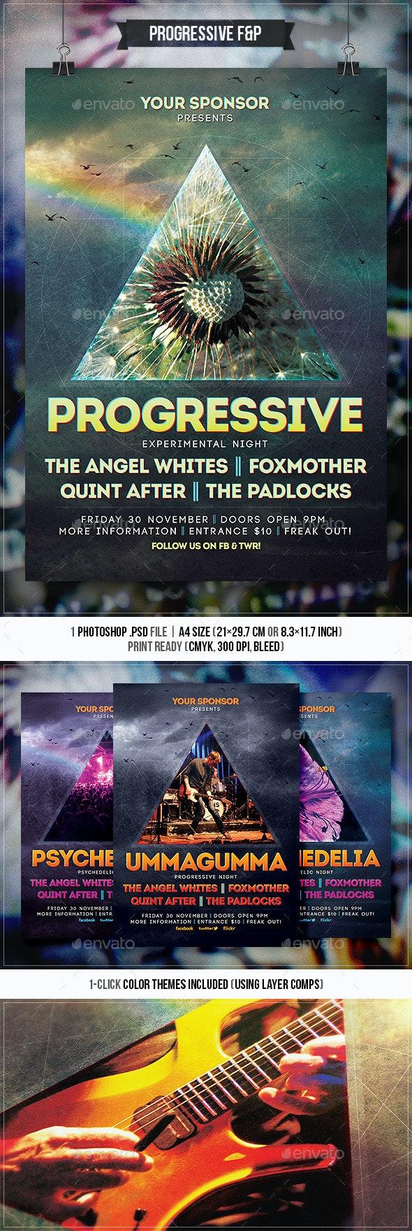 Progressive Rock Flyer & Poster - Concerts Events
