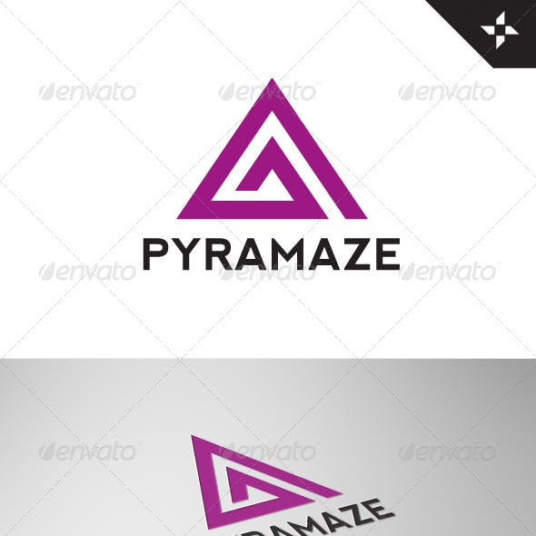 PyraMaze Abstract Logo