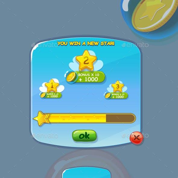 Star Winner Game Interface