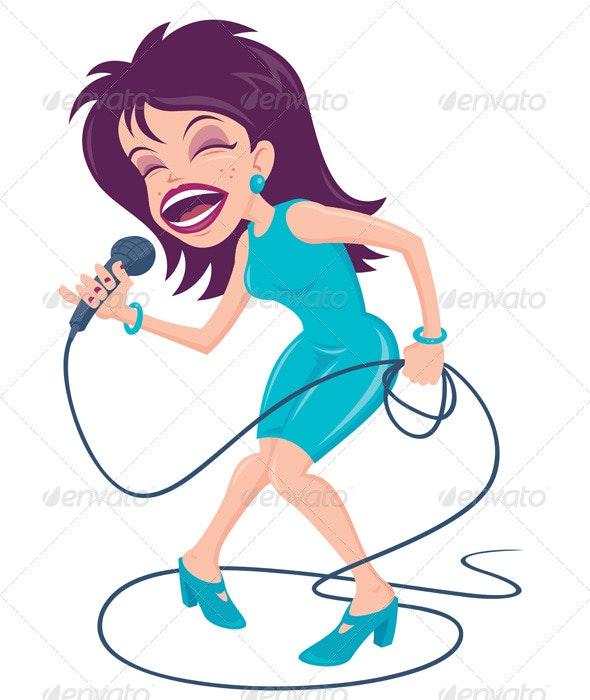 Female Pop Singer - People Characters