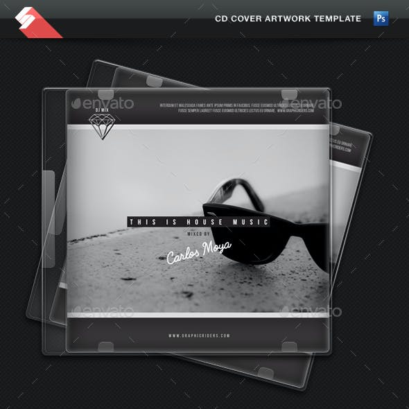 This Is House Music - CD Cover Artwork Template