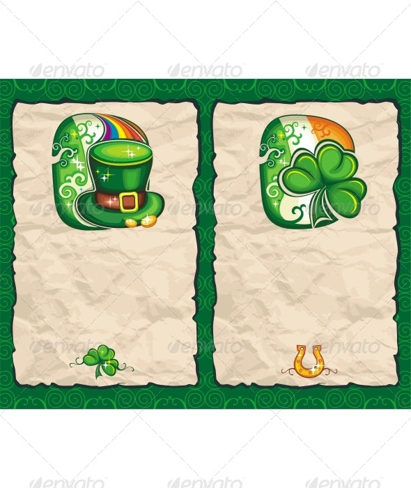 St. Patrick's Day Paper Background - Seasons/Holidays Conceptual