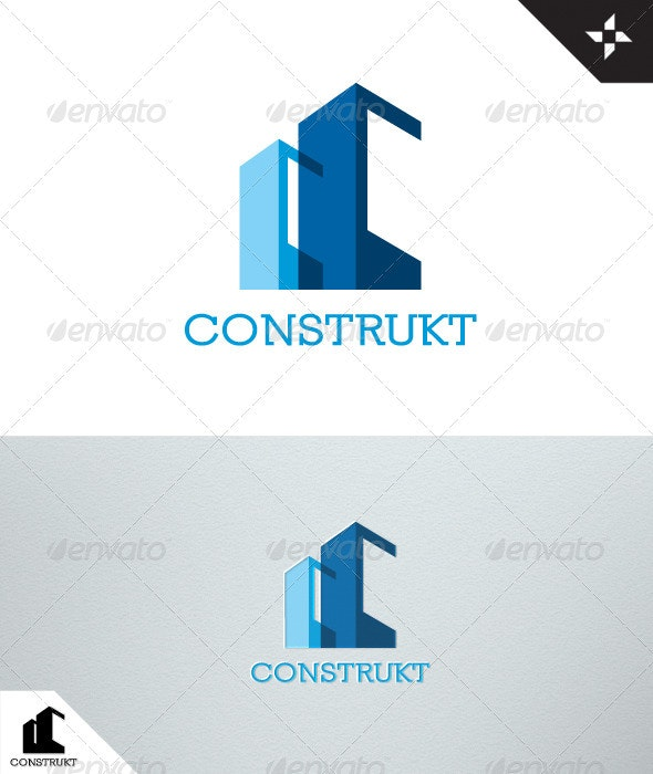 Construkt - Real Estate - Construction Logo - Letters Logo Templates