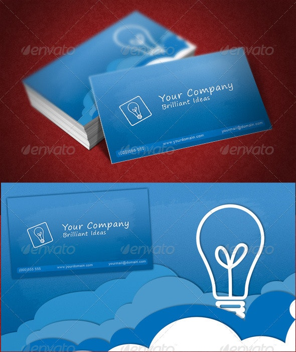 Clouds Business Card - Creative Business Cards