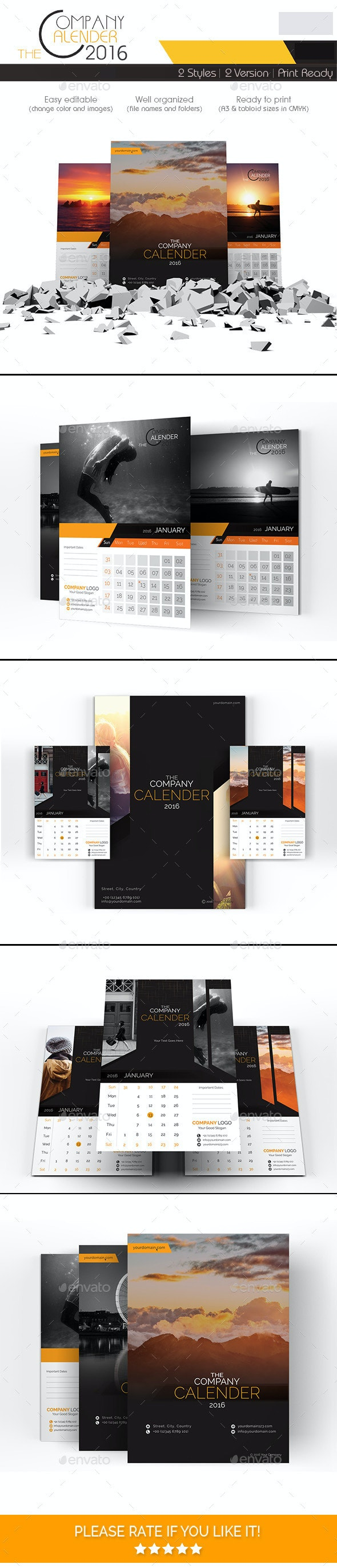 The Company Calendar 2016 - Calendars Stationery