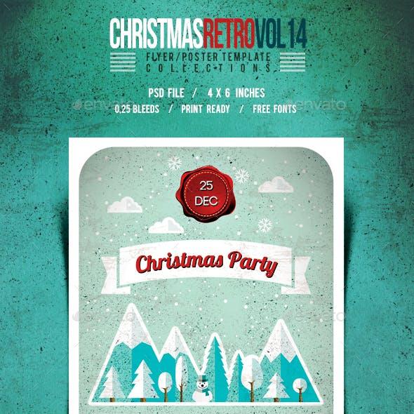 Christmas Flyer/Poster/Card Retro Vol.14