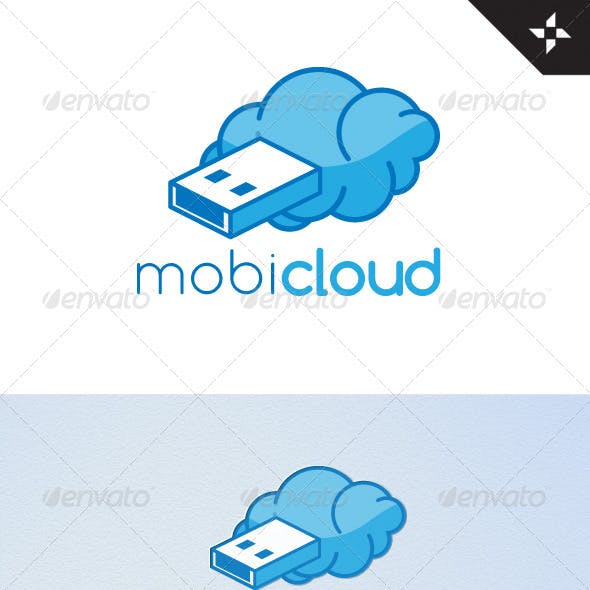 Mobi-Cloud Logo Design