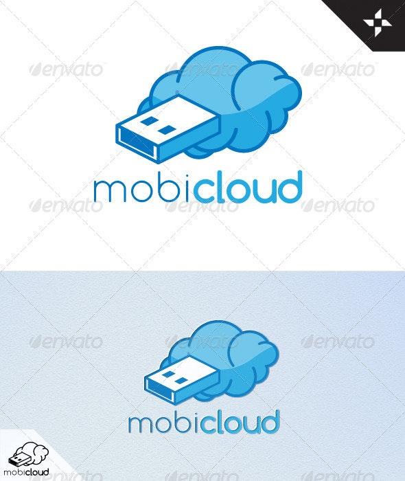 Mobi-Cloud Logo Design - Vector Abstract