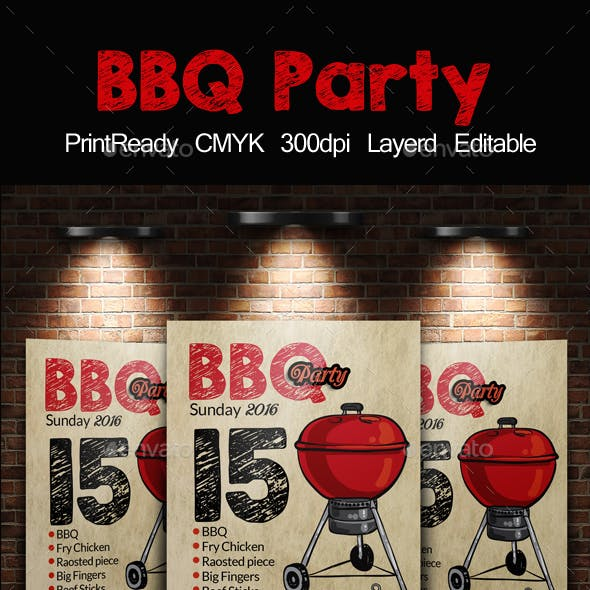 BBQ Barbecue Flyer Template