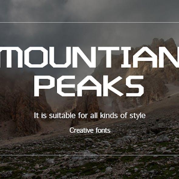 Mountain peaks-Creative font