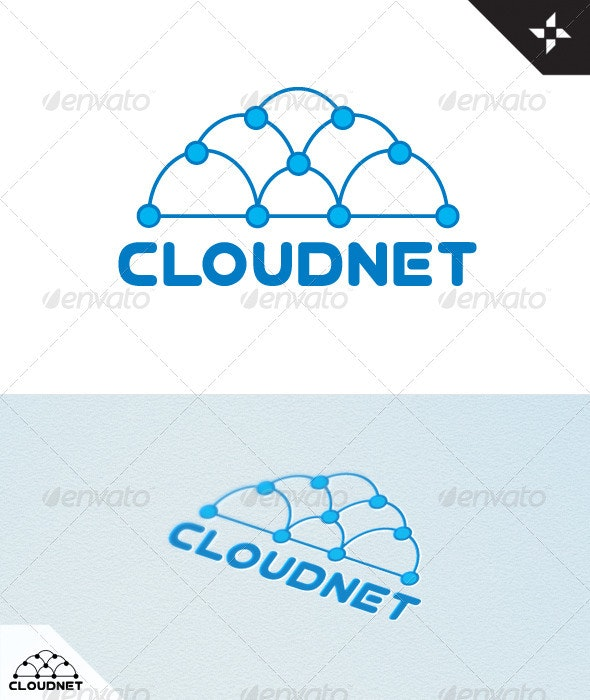 Cloud Net Logo - Vector Abstract
