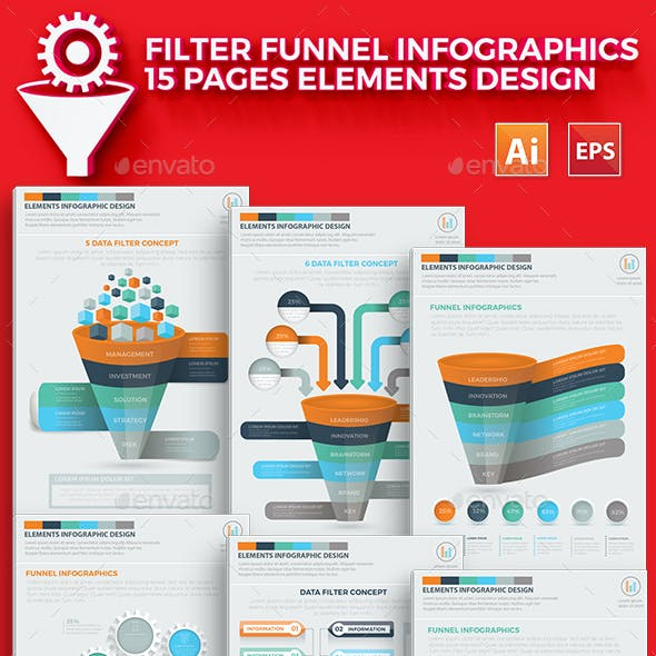 Filter Funnel 15 Infographics Design