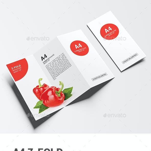 A4 Z-Fold Brochure Mock-Up