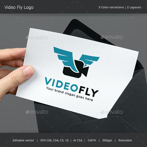 Video Fly Drone Logo