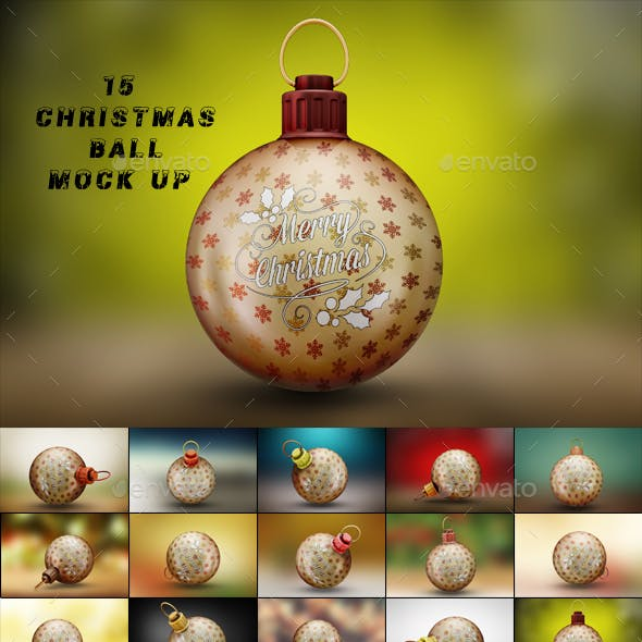 15 Christmas Ball Mock-Up