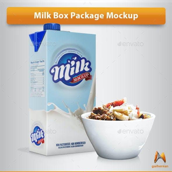 Milk Box Package Mockup