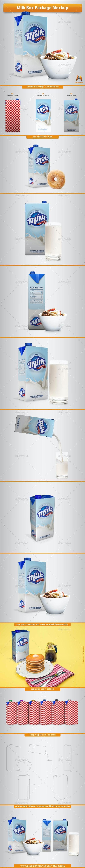 Milk Box Package Mockup - Food and Drink Packaging