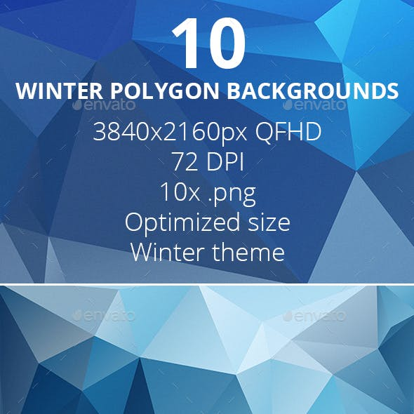 10 Winter Polygon Backgrounds