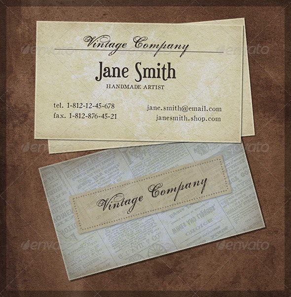Good Old Vintage - Retro/Vintage Business Cards