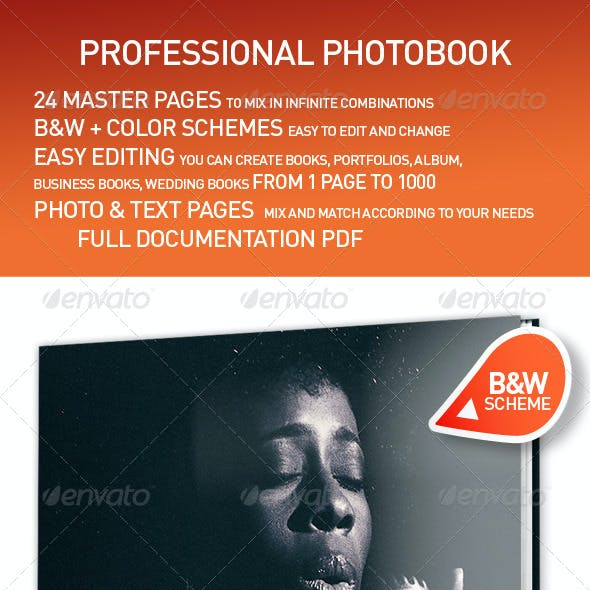 Professional Photobook Template InDesign