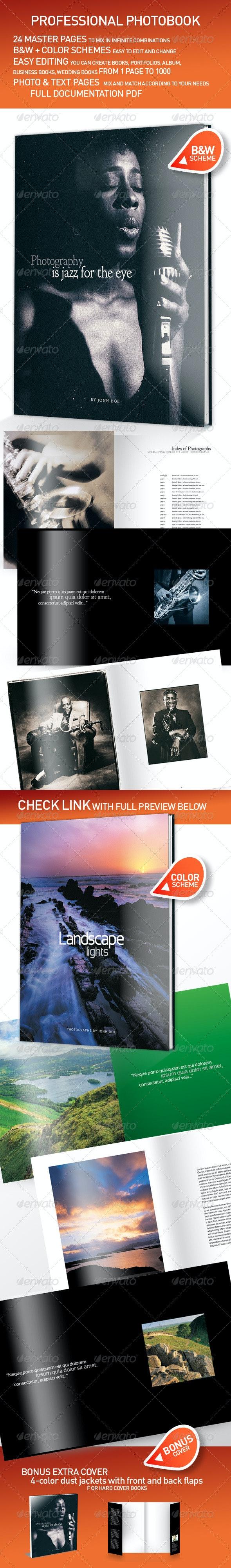 Professional Photobook Template InDesign - Photo Albums Print Templates